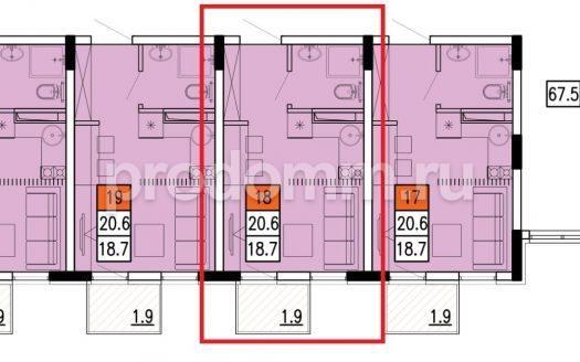ЖК Касабланка Адлер Планировка квартиры 20,6 кв м