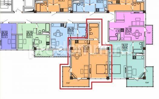 ЖК Мадрид 5 план квартиры 52 м кв