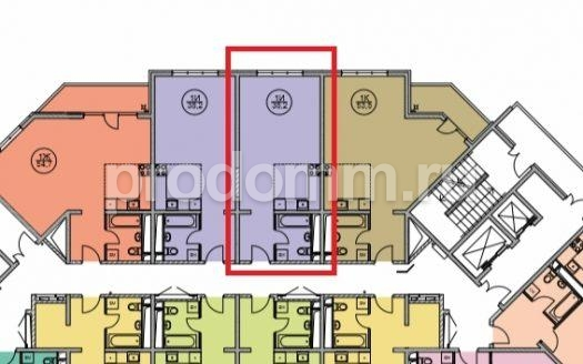ЖК Дагомыс Парк Сочи План студии 38 кв м