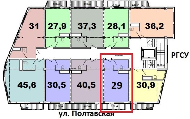 ЖК Монте-Карло Сочи План 8-го этажа
