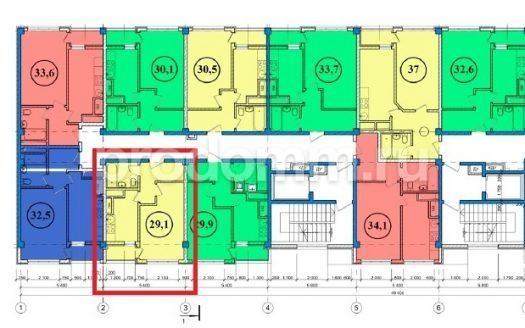 ЖК Сен-Тропе Сочи Планировка квартиры 29,1 кв м