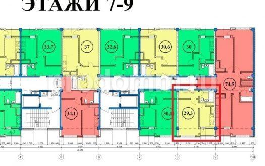 ЖК Сен-Тропе Сочи Планировка квартиры 29,3 кв м