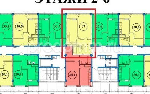 ЖК Сен-Тропе Сочи Планировка квартиры 37 метров