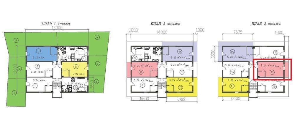 ЖК Византия Адлер Сочи План этажей и студии 24 кв. м.