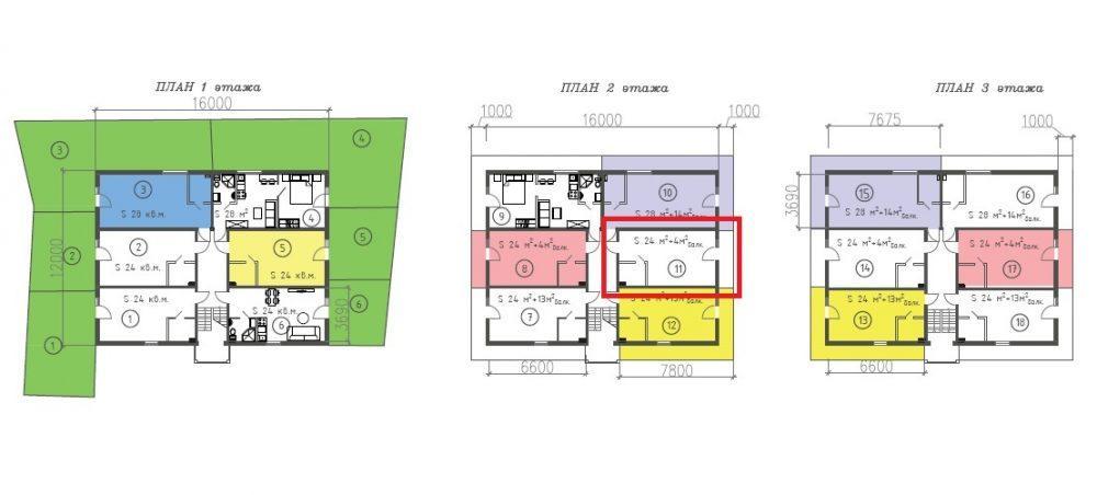 ЖК Византия Адлер Сочи План всех этажей и студии 24 метра