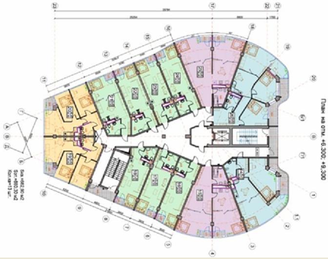 ЖК Дмитрий Донской план 3-го этажа