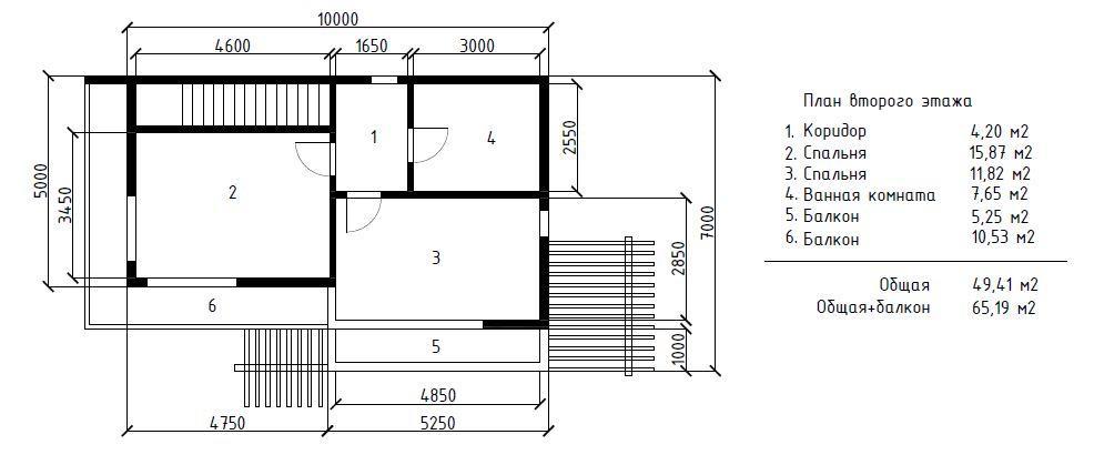 КП На Терновой Адлер - План 2-го этажа