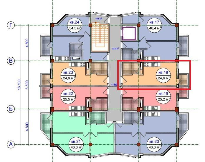 ЖК Прохладная долина Сочи Планировка квартиры