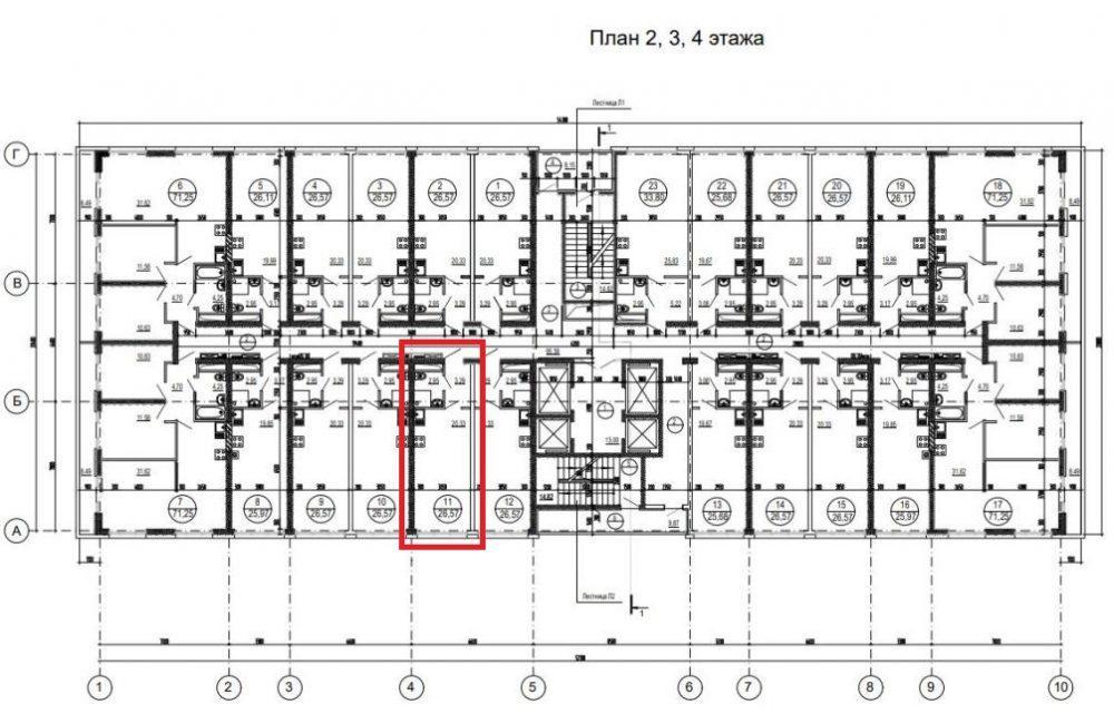 ЖК Аллея парк Дагомыс - План 3-го этажа