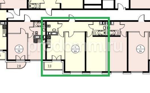 ЖК Альпийский квартал Сочи План квартиры 64 м