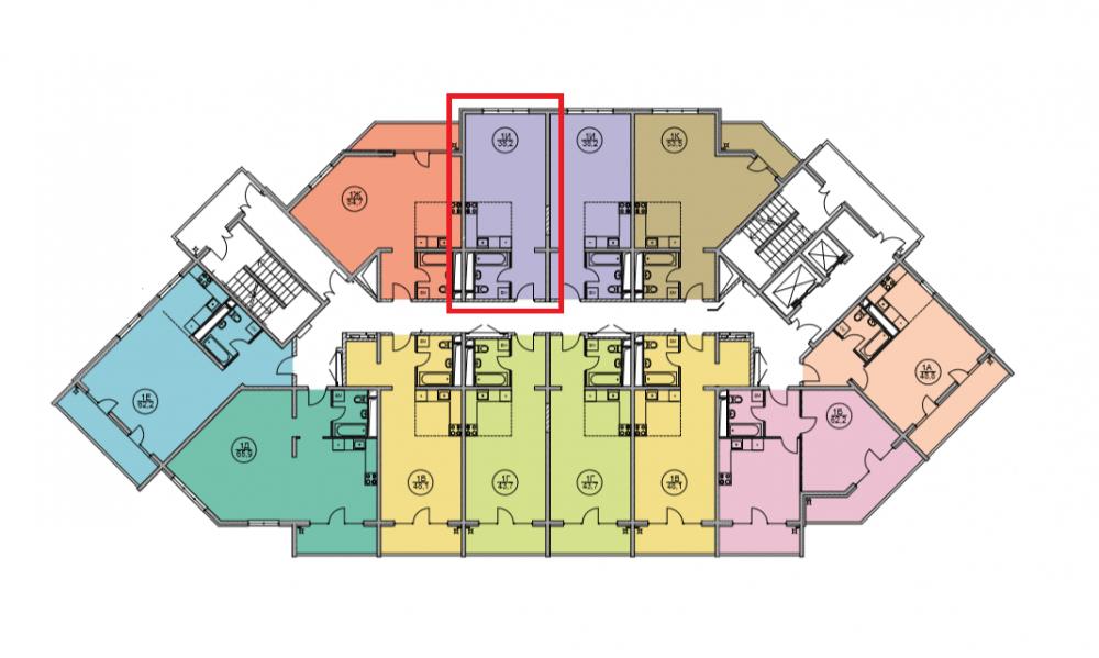 ЖК Дагомыс Парк Сочи - План 13-го этажа