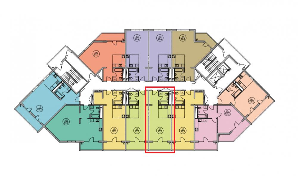 ЖК Дагомыс Парк Сочи - План 5-го этажа