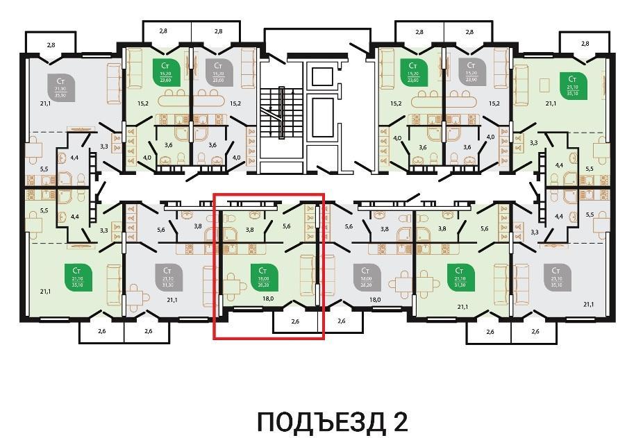 ЖК Флора Кудепста Сочи - План 3-го этажа