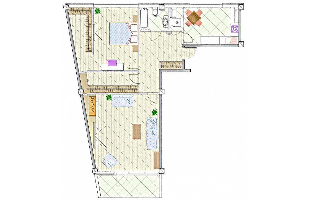 ЖК Лазурный берег Сочи 2 - план квартиры 132,7 квм