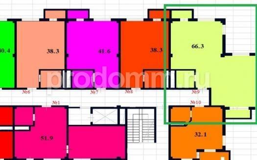 ЖК River House Сочи планировка 66,3 м кв
