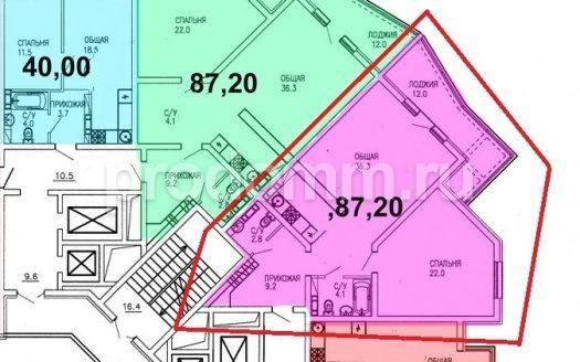 ЖК Виктория Сочи план квартиры 87,2 кв м