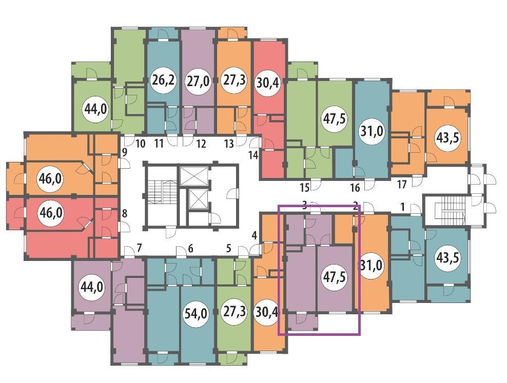ЖК Вишнёвый парк Сочи План 1-го этажа