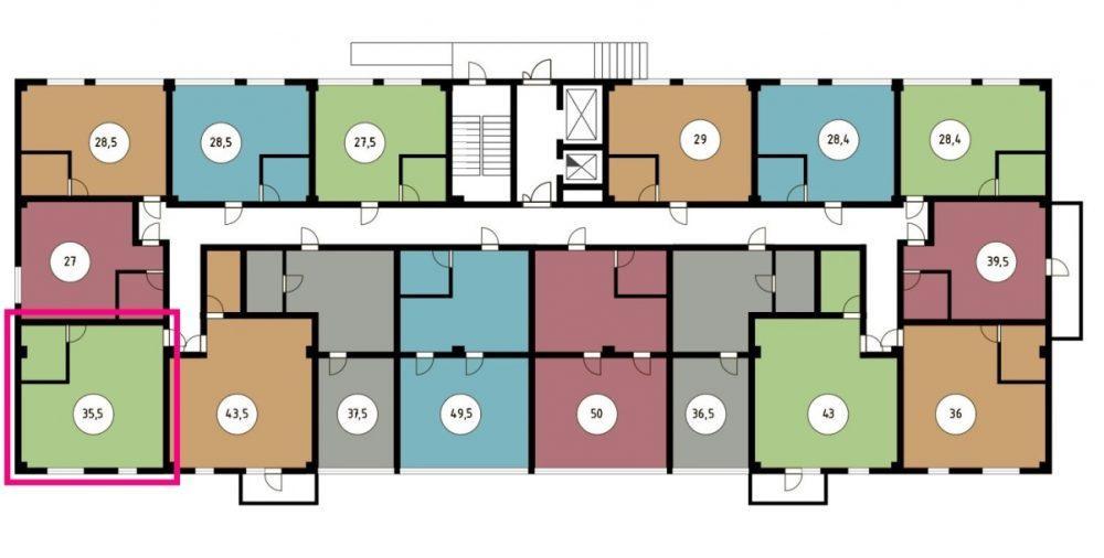 ЖК Звёздный берег Сочи - План 2-го этажа