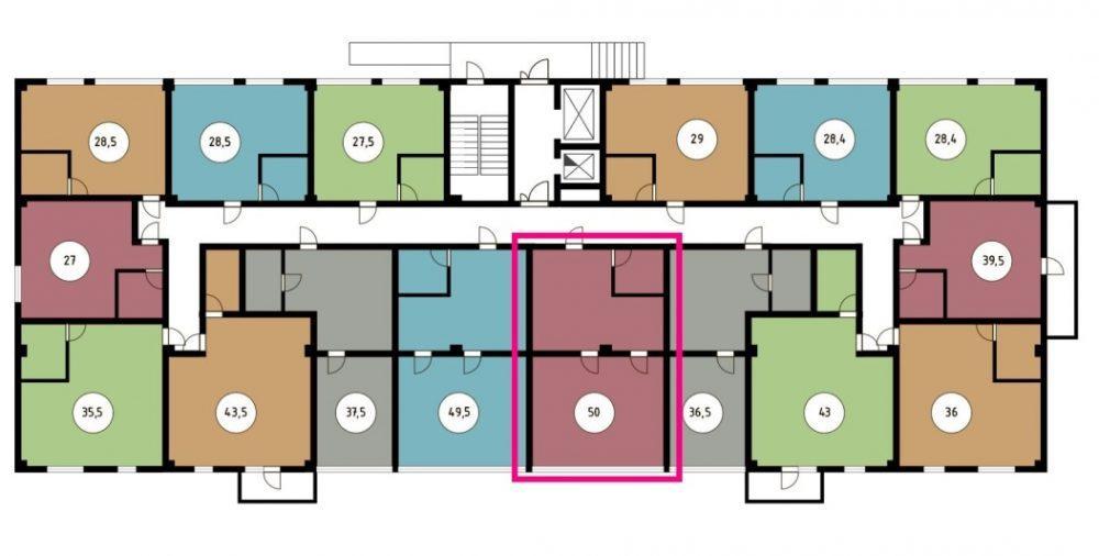 ЖК Звёздный берег Сочи - План 1-го этажа
