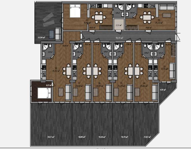 АК Морской каскад - Планировка апартаментов №2