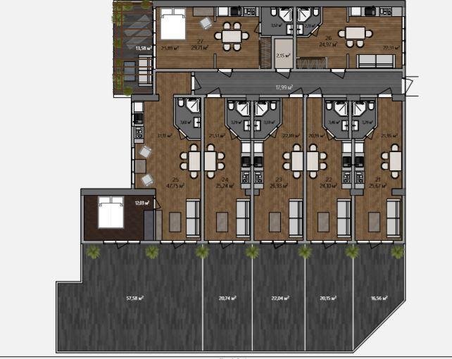 АК Морской каскад - Планировка апартаментов №3