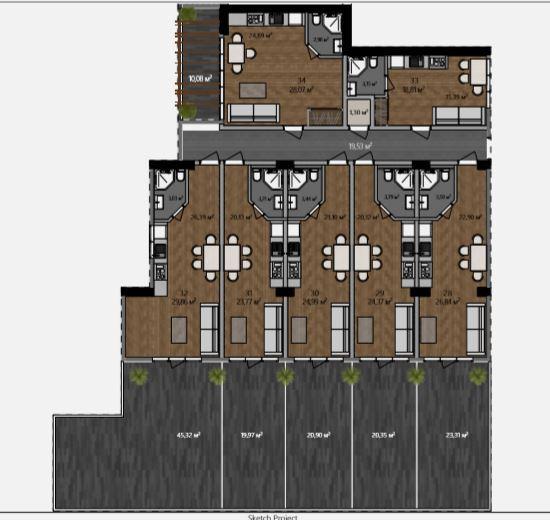 АК Морской каскад - Планировка апартаментов №4