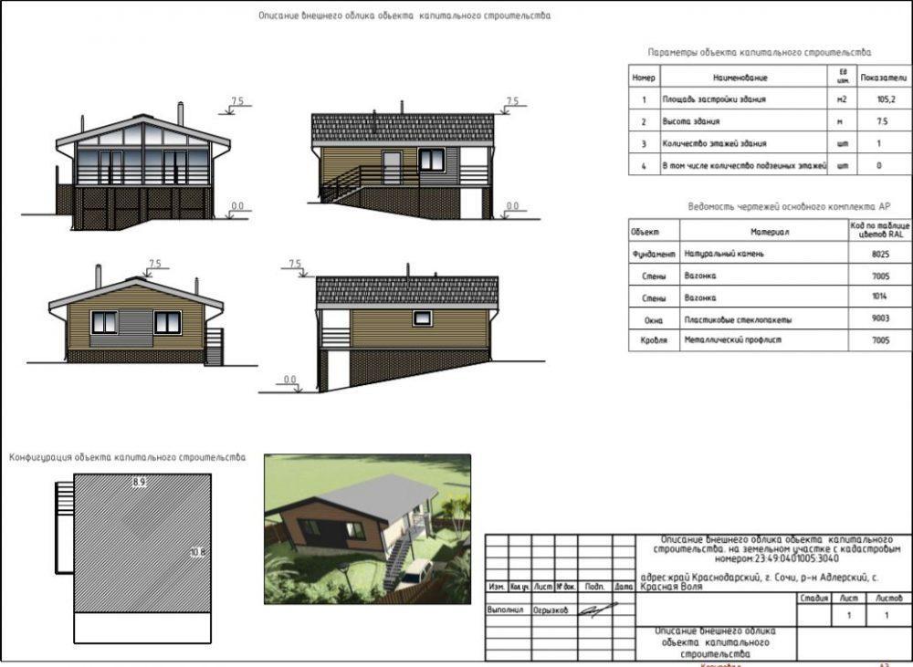 КП Агора Сочи - План дома, схема в разрезе