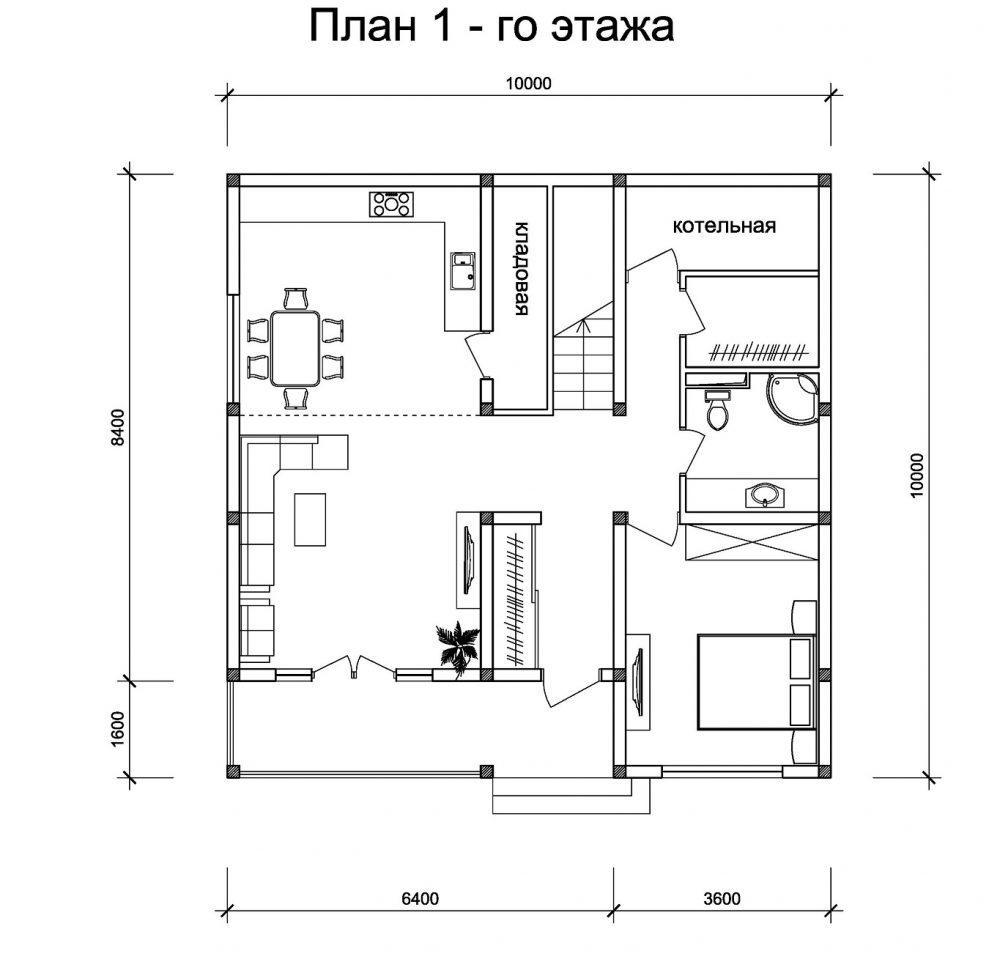 КП Фэмили клаб - План 1-го этажа