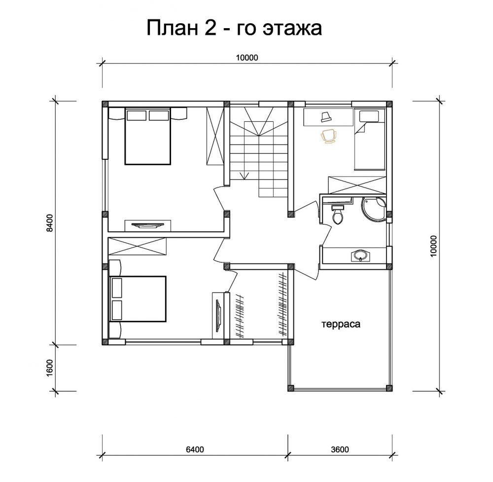 КП Фэмили клаб - План 2-го этажа