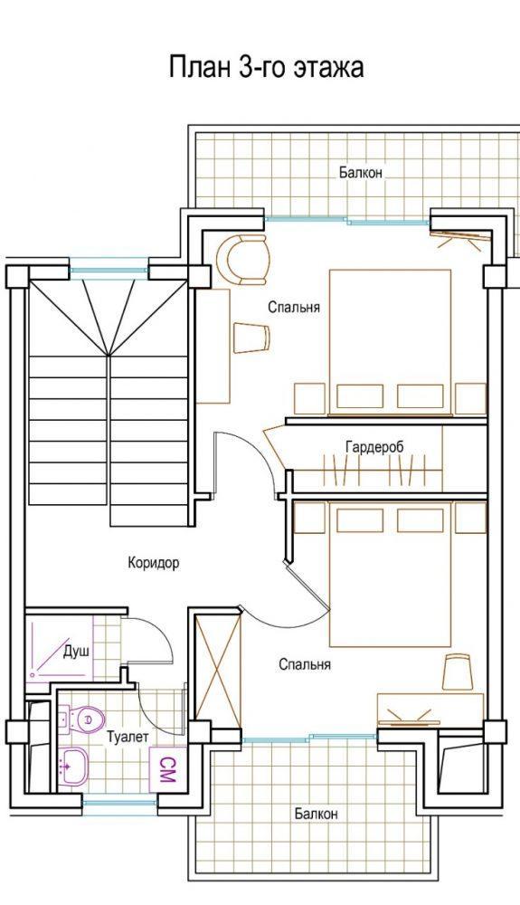 КП Изумрудный город - План 3-го этажа