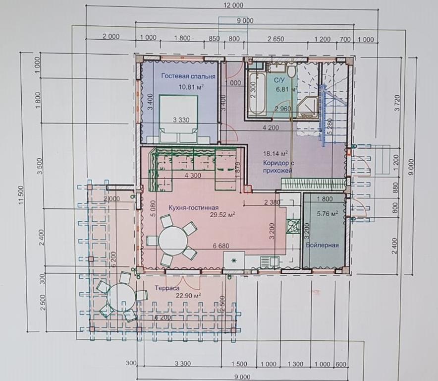 КП Солнечная поляна на Леселидзе - План 1 этажа