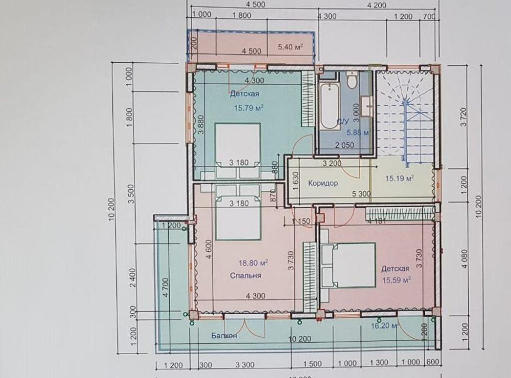 КП Солнечная поляна на Леселидзе - План 2 этажа
