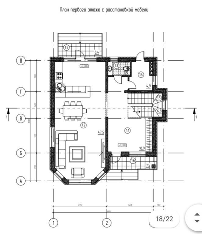 КП на Владимировской - План 1-го этажа
