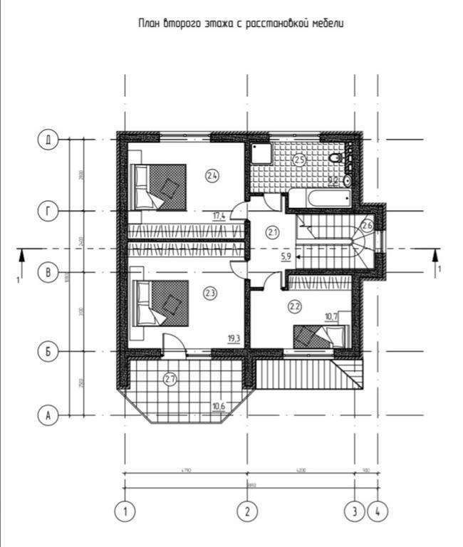 КП на Владимировской - План 2-го этажа
