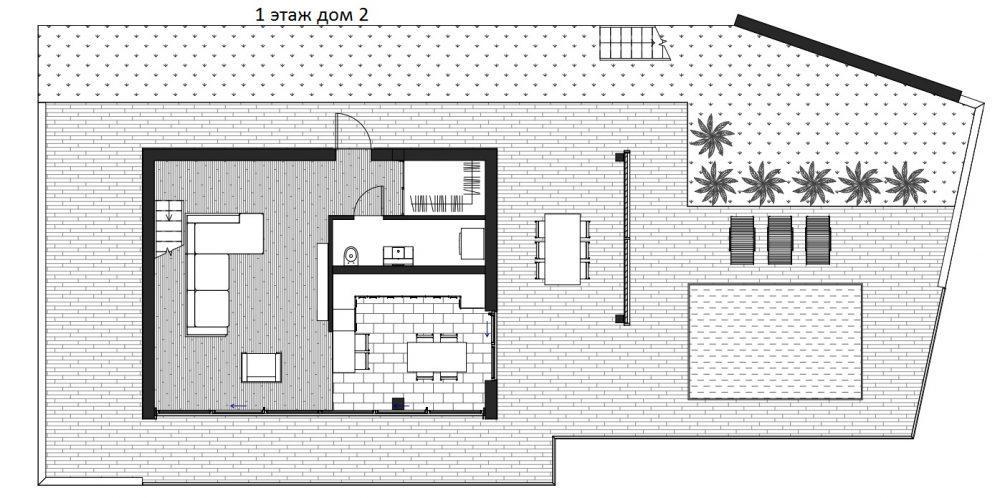 КП Над морем Сочи - план дома №2 - этаж 1