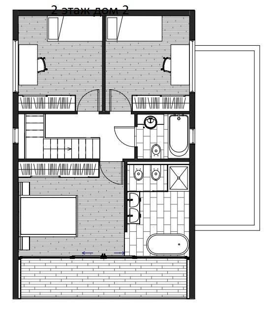 КП Над морем Сочи - план дома №2 - этаж 2