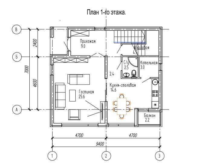 КП Надежда - План 1 этажа