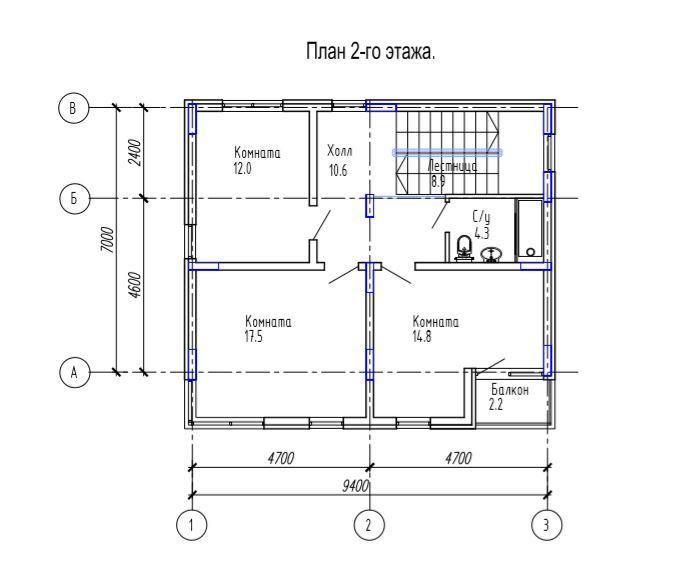 КП Надежда - План 2 этажа
