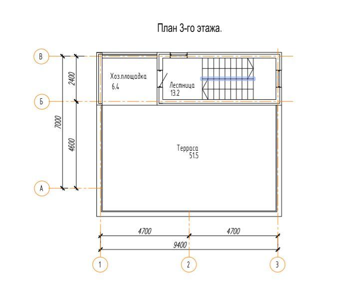КП Надежда - План 3 этажа