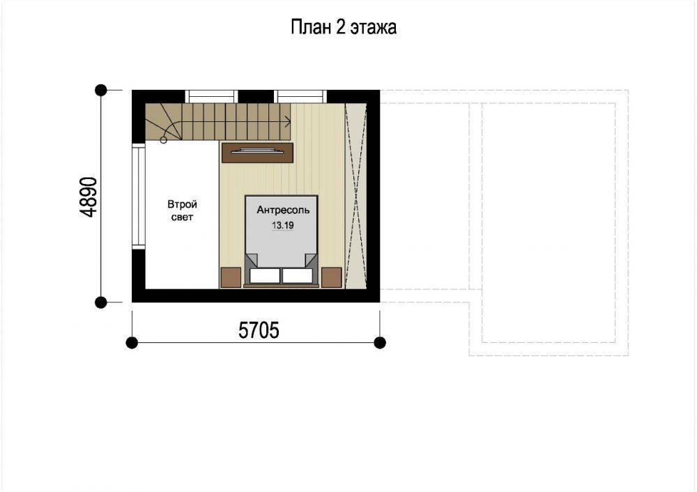 КП Седьмое небо 2 - план 2 этажа