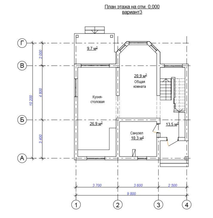 КП «Villa Mount» - План 1-го этажа