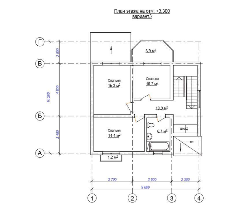 КП «Villa Mount» - План 2-го этажа