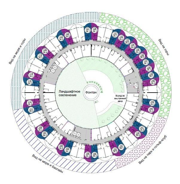 Adagio Le Rond Sochi - План этажа и расположения апартаментов