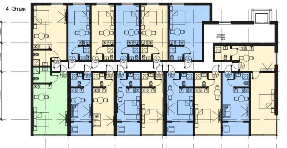 АК Роял Вью - План 4-го этажа