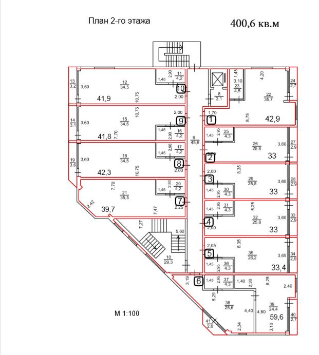 АК Взморье Лазаревское Сочи - План 2-го этажа