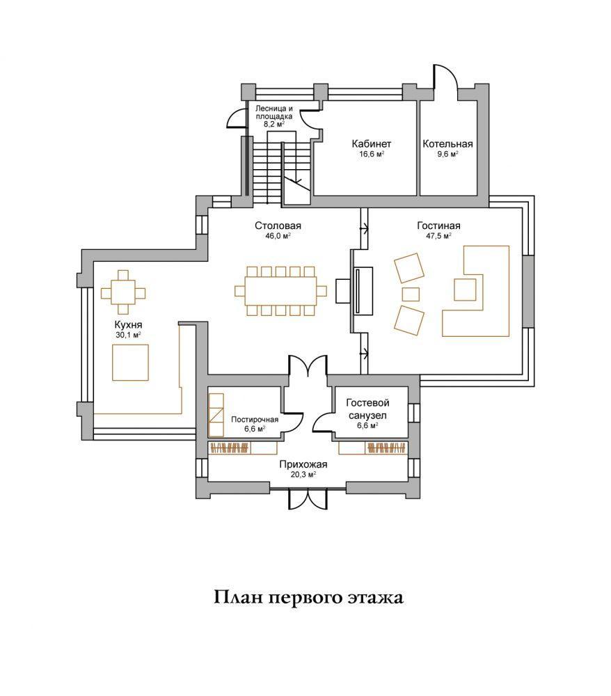 КП Горное озеро - План №2 Этаж 1