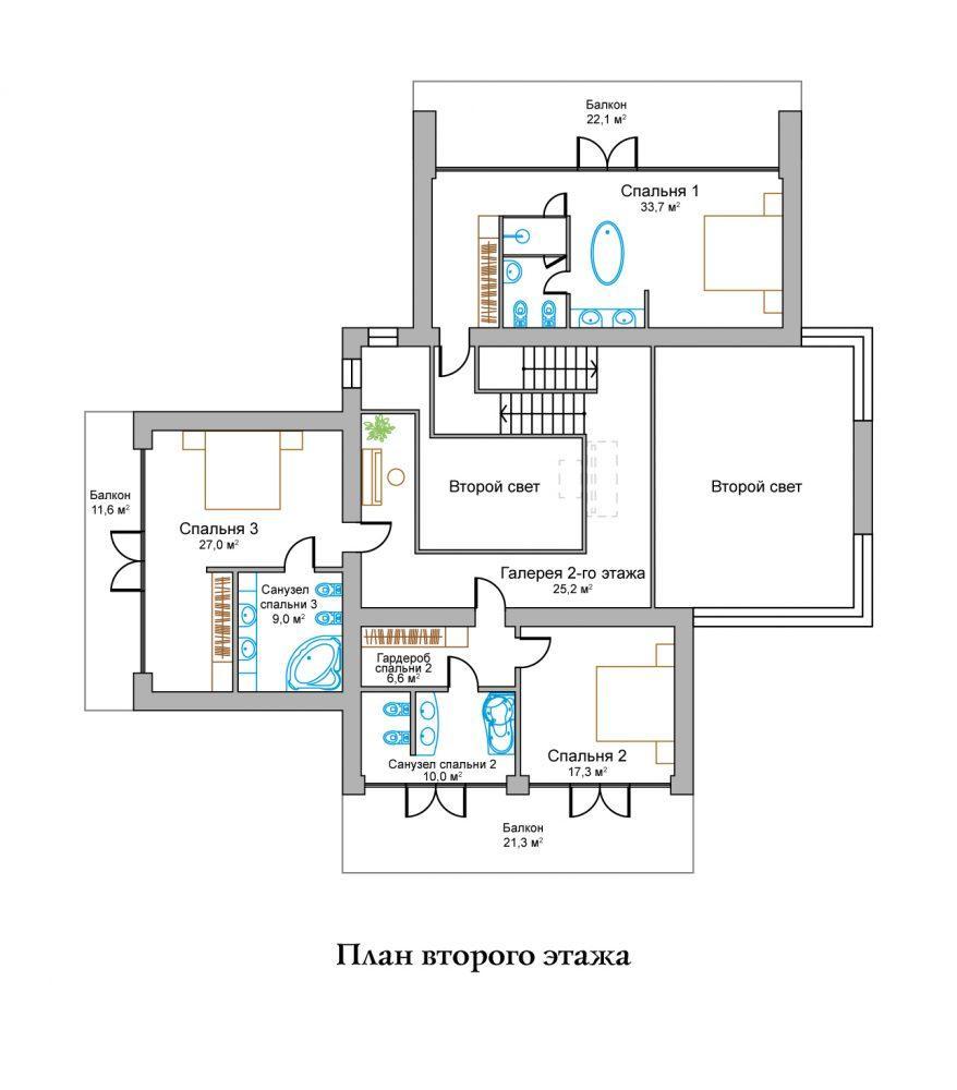 КП Горное озеро - План №2 Этаж 2