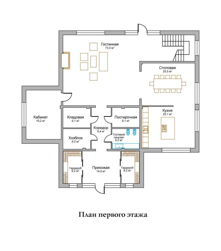 КП Горное озеро - План №3 Этаж 1