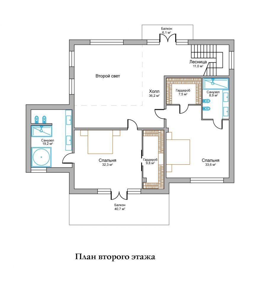 КП Горное озеро - План №3 Этаж 2