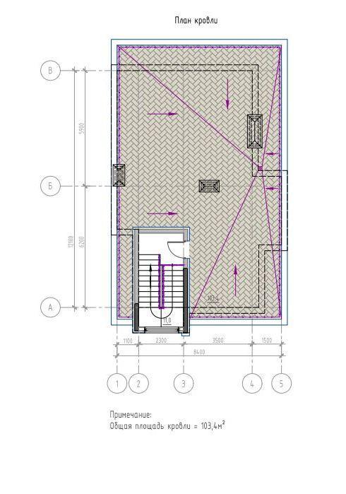 КП Лесной вернисаж - План кровли, дом 200 м2